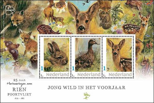 Rien Poortvliet postzegels