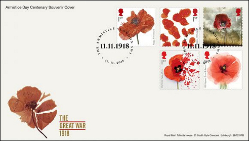 Royal Mail: FDC Remembrance poppy, 2018