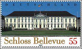 Slot Bellevue postzegel Duitsland