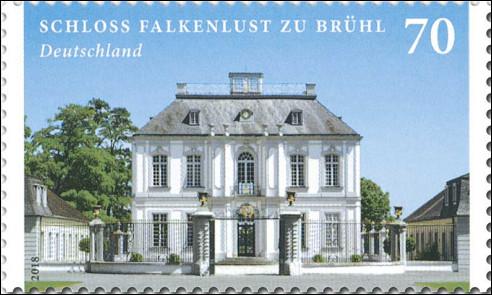 Slot Falkenlust op postzegel