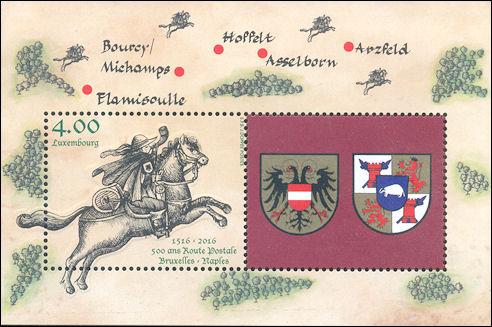 Een postruiter van Thurn en Taxis in Luxemburg
