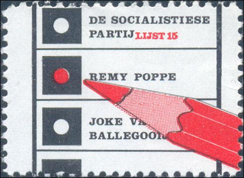 Namaakzegel van de Socialistische Partij