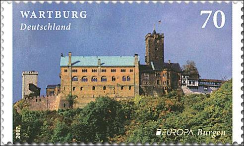Wartburg op Duitse postzegel