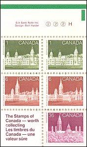 Canada House of Commons postzegelboekje