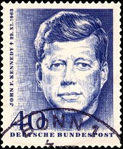 Kennedy op postzegel Duitsland
