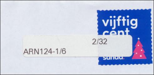 Kerstzegel van Sandd met sticker