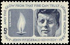Kennedy op Amerikaanse postzegel