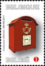 België Brievenbus op postzegel 2011