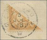 Curaçao gehalveerde postzegel