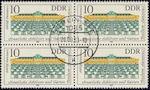 Postzegels DDR met massaafstempeling