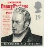 Britse postzegel voor posthervormer
