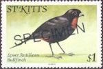 Postzegel met specimen-stempel