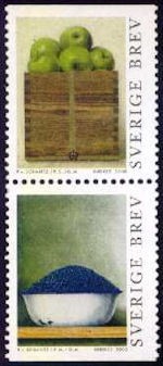 Kunst op Zweedse postzegels