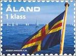 De vlag van Aland