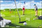 Golfers op de Finse golfbaan
