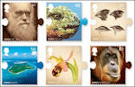 Charles Darwin op Britse postzegels
