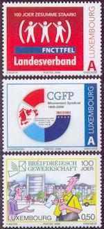 Vakbonden op postzegels Luxemburg