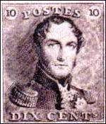 Eerste Belgische postzegel