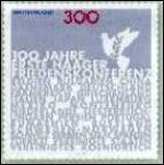 Haagse Vredesconferentie op Duitse postzegel