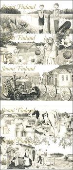 Boerenleven in postzegelboekje