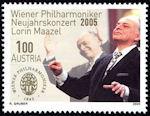 Nieuwjaarsconcert op Oostenrijkse postzegel