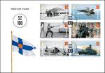 100 jaar Finse krijgsmacht op postzegels