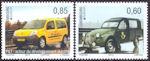 Postauto's op Europazegels