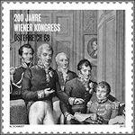 Congres van Wenen op postzegel in Oostenrijk