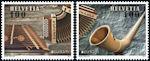 Europazegels: Nationale muziekinstrumenten uit Zwitserland