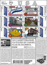 De postzegels Grenzeloos Nederland tonen de relatie met de Verenigde Staten