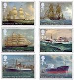 Koopvaardij op Britse postzegels
