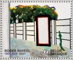Roger Raveel op Belgische postzegel
