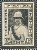 Ruanda-Urundi Rouwzegel Albert I