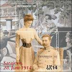 Postzegelblokje over moordaanslag Sarajevo