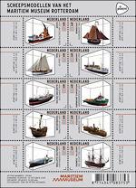 Scheepmodellen van het Maritiem Museum Rotterdam op postzegels