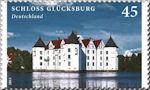 Slot Glücksburg op postzegel