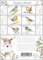 Tuinvogels op Nederlandse postzegels