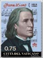 Franz Liszt postzegel