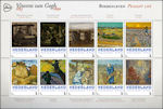 Schilderijen Vincent van Gogh op postzegels