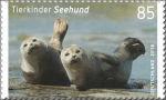 Zeehonden op Duitse postzegel