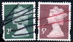 Penvernietiging op Engelse postzegels